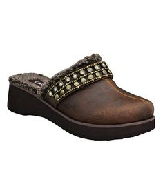 Take a look at this Brown Carletta Clog by Grazie on #zulily today!