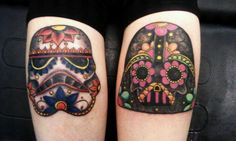 I wouldn't get these, but they are amazing!  star wars / sugar skull tattoo