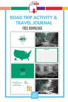 Road Trip Activities, Road Trip Games, Us Road Trip, Road Trip With Kids, Family Road Trips, Book Activities, Travel With Kids, Family Travel, Kids Travel Journal