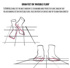 """kasiaslupecka: """" Weekly anatomy tip! This week I tackle feet. I know how many of you asked for it. It is hard topic indeed. It's hard to draw nice looking character with feet that doesn't look..."""