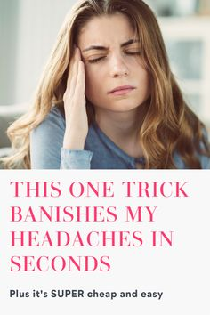 This one little trick gets rid of most of my headaches in just seconds and without any funky side effects. Plus, it's cheap and easy! No joke, it really works! Check it out!