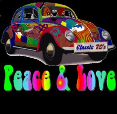 '70s VW Beetle, decorated