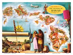 Hawaiian Travel Ads (Vintage Art) Poster at AllPosters.com