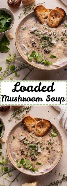 Loaded Creamy Mushroom Soup Recipe
