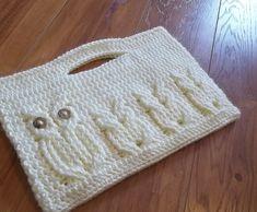It's a Hoot Momma Owl Clutch Purse Crochet Pattern. $4.99, via Etsy.