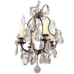 #1900's #French #Bronze and #Crystal #Chandelier