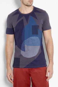 Charcoal Navy Parsons Print T-Shirt by Folk  #PackforParadise Enter Here: http://budurl.com/PackforParadise