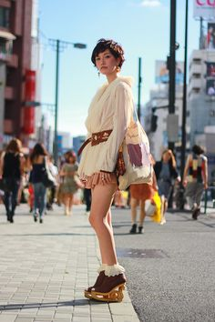 ストリートスナップ [竹内 悠子] | BroughSuperior, Jeffrey Campbell, Lano, The Dress & Co., YodaHidemi | 原宿 | 2012年09月14日 | Fashionsnap.com