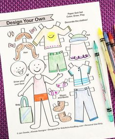 Design your own printable paper dolls with these fun templates. Customize the Paper Dolls to look like you, your favorite storybook character, or to use in a puppet show! Paper Doll Template, Drawing Templates, Paper Dolls Printable, Printable Cards, Printable Activities For Kids, Craft Activities, Free Printables, Operation Christmas Child, Business For Kids