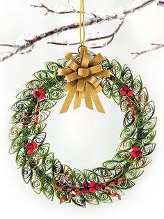 Wreath, Creative Paper Quilling