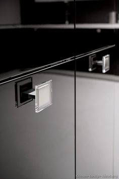 Unique handles by ALNO. Modern Two-Tone Kitchen Cabinets # 213