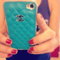 Chanel case TEAL& CHANEL<333  BOTH MY LOVES!