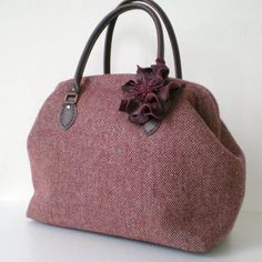 Herringbone Tweed Boston Bag-- I'm so in love with this handbag. I've been oogling this design for over a year. $90