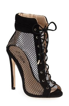 Trendy High Heels For Ladies : Emily B x ZiGiNY 'Dream' Mesh Bootie (Women) available at Dream Shoes, Crazy Shoes, Me Too Shoes, Heeled Boots, Bootie Boots, Shoe Boots, Ankle Booties, Tan Boots, Stiletto Boots