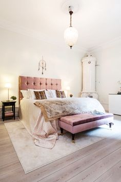 50 Shades of Pastel Home Decor - The Cottage Market Woman Bedroom, Dream Bedroom, Master Bedroom, Bedroom Bed, White Bedroom, Dusky Pink Bedroom, Blush And Gold Bedroom, Swedish Bedroom, Decoration Inspiration
