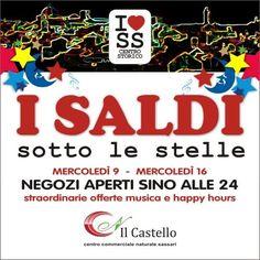 SHOPPING SOTTO LE STELLE – SASSARI – 9 e 16 LUGLIO 2014