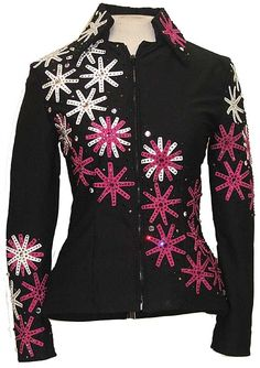 Floral appliques turn a regular blazer into a blinged out western blazer!  Just add jeans and boots!!