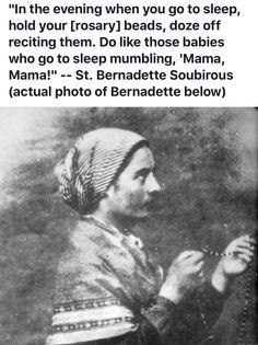 St. Bernadette Soubirous Catholic Religion, Catholic Quotes, Catholic Prayers, Catholic Saints, Religious Quotes, Roman Catholic, Catholic Hymns, Religious Art, St Bernadette Of Lourdes