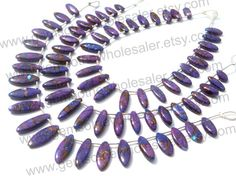 Purple Copper Turquoise Smooth Marquise by GemstoneWholesaler
