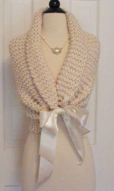 Wedding Shawl/ Hand Knit / Bridal Shawl / by ElegantKnitting, $54.00