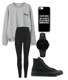 """""""Socially Inept"""" by fangirlmendes on Polyvore featuring MANGO, adidas Originals, Converse, Casetify and CLUSE"""