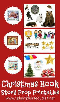 Christmas Book Story Prop Printables {Bear Stays Up, One Baby Jesus, My Merry Christmas}