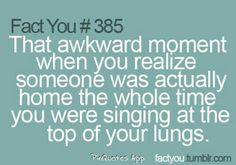I hate when this happens!! So embarrassing