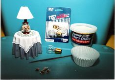 Dollhouse Miniature Furniture - Tutorials   1 inch minis: How To make a miniature lamp