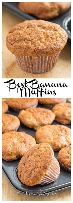My recipe for Best Banana Muffins makes light and moist muffins. You will want to buy lots of bananas just to have over-ripe bananas to make this recipe!