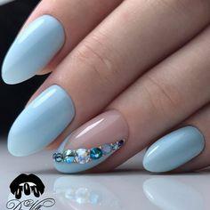 Hot Trendy Nail Art Designs that You Will Love Cute Nails, Pretty Nails, My Nails, Long Nails, Fabulous Nails, Perfect Nails, Nagel Stamping, Blue Nail Designs, Sky Blue Nails