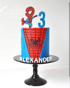 3 Year Old Birthday Cake, Spiderman Birthday Cake, 3rd Birthday Cakes, Superhero Cake, Spiderman Pasta, Spiderman Cake Topper, Spiderman Theme, 4th Birthday, Paw Patrol Cake
