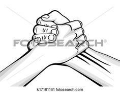 handshake two male hands View Large Clip Art Graphic