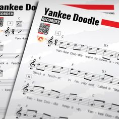 """RECORDER+SHEET+MUSIC:+Yankee+Doodle+w/+Performance+Trax+[Recorder,+Flute,+Violin+or+Oboe]+""""Yankee+Doodle""""+is+a+well-known+Anglo-American+song,+the+origin+of+which+dates+back+to+the+Seven+Years'+War.+It+is+often+sung+patriotically+in+the+United+States+today+and+is+the+state+anthem+of+Connecticut."""