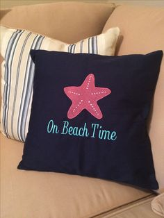 My new custom pillow from Thirty-One! Love the starfish icon!