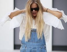 :overalls can be dressed up or down... I prefer up: