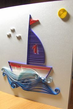 Quilling with Fun: schip Arte Quilling, Paper Quilling Flowers, Paper Quilling Designs, Quilling Craft, Quilling Patterns, Quilling Tutorial, Quiling Cards, Fruit Picture, Art N Craft