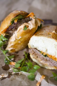 Lamb Bahn Mi Burgers - Click for Recipe