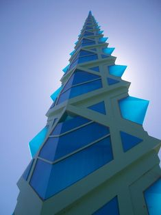 The Frank Lloyd Wright spire in Scottsdale, Arizona: we saw it being built and it has become one of our favorite local landmarks.