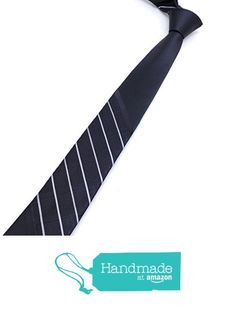 """Black and white dotted and striped men's tie 5,5 cm (2,17"""") SL-106 from Nazo… #handmadeatamazon #nazodesign"""