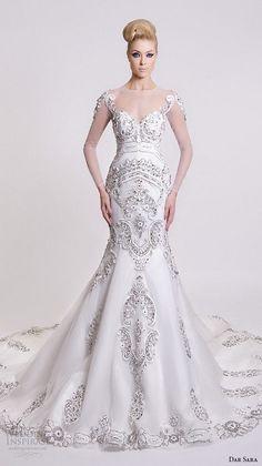Dar Sara 2016 Wedding Dresses / http://www.himisspuff.com/mermaid-wedding-dresses/2/