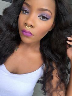 Purple explosion. Heroine lips by MAC.