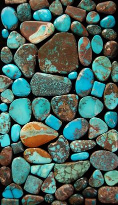 I have been obsessed with turquoise since I was a child. I loved my mom's silver/turquoise jewelry. I had the colours of the stone (greens and blues primarily) incorporated into my Celtic knot tattoo as a background.