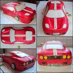 Ferrari cake - every angle