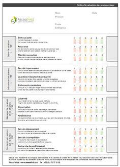 Grille évaluation du commercial - Modèle gratuit de lettre