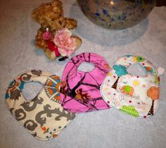 Trio of boutique bibs on Etsy, $20.00