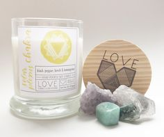 Solar Plexus Chakra Candle-Healing Candle-Yoga Candle-Personal Power-Cleansing-Self Confidence