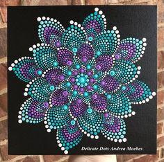 Mandala Dot Canvas Painting / Painting / Dot Art / Mandala / Mandala Dot Painting / Mandala Dot Art