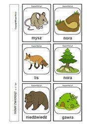 Domy zwierząt - arkusz nr 6 Montessori, Education, Alphabet, Puzzle, Google, Animals, Puzzles, Animales, Animaux