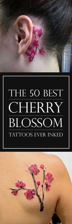 Las 50 mejores diseños de tatuajes flor de cerezo | TattooBlend