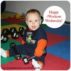 Happy #WorkoutWednesday!  Grant is helping me get my #BodyBeast #Cardio and #Abs done today!  What's your #workout?